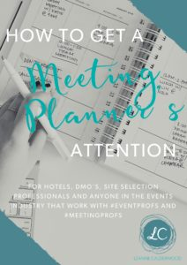 How to get a meeting planner's attention
