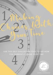 Making Choices with your Time Worksheet