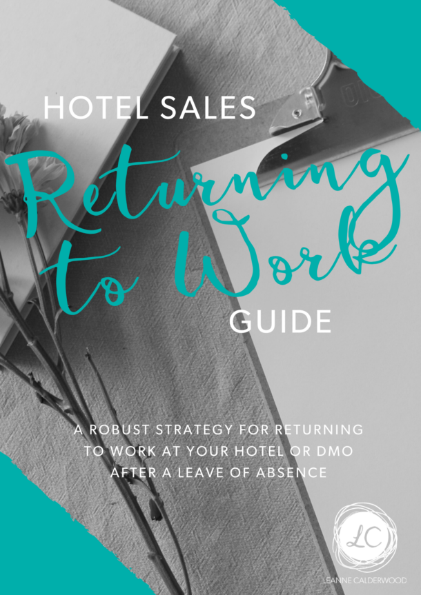 returning to work hotel sales